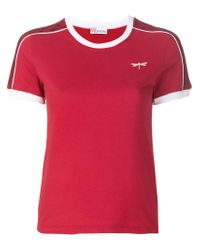 RED Valentino Red Dragonfly Patch T-shirt