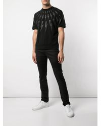 T-shirt con stampa di Neil Barrett in Black da Uomo