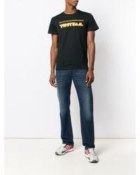 メンズ DIESEL ロゴ Tシャツ Black