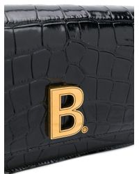 Balenciaga B チェーンウォレット Black