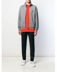 メンズ Moncler ジップアップ スウェットシャツ Gray