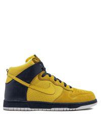 Nike Yellow Dunk High Sneakers for men