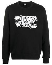 メンズ Just Cavalli ロゴ スウェットシャツ Black
