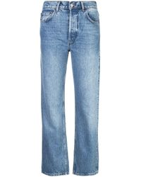 Reformation Blue Cynthia High Relaxed Jeans