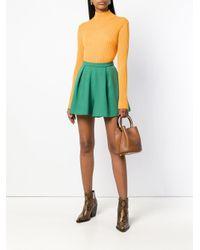 L'Autre Chose Green Pleated Shorts