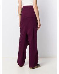Erika Cavallini Semi Couture ベルテッド パンツ Purple
