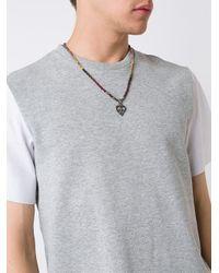 Roman Paul - Multicolor Peace Sign Necklace for Men - Lyst