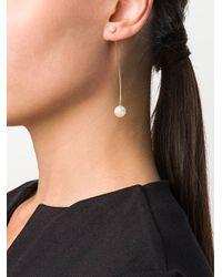 Sophie Bille Brahe Metallic 14kt Yellow Gold Elipse Lounge Pearl Earring