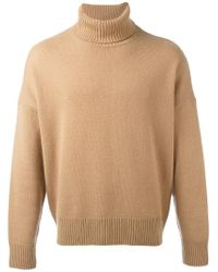 AMI Natural Turtle-neck Jumper for men