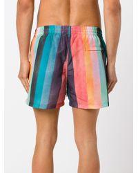 Paul Smith Multicolor Striped Swim Shorts for men