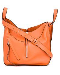 Loewe - Orange Small Hammock Leather Shoulder Bag - Lyst