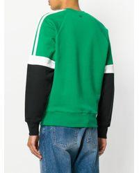 メンズ AMI トリカラー スウェットシャツ Green