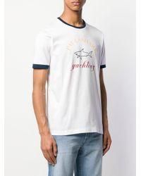 T-shirt à logo Paul & Shark pour homme en coloris White