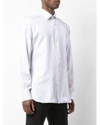 Классическая Рубашка На Пуговицах Ermenegildo Zegna для него, цвет: White
