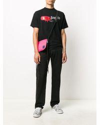 Camiseta Tokyo con logo en spray Palm Angels de hombre de color Black