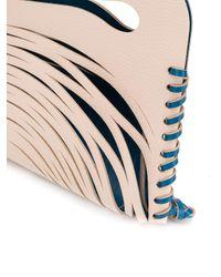 Eudon Choi Multicolor Cut-out Detail Clutch Bag