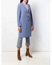 Harris Wharf London シングルコート Blue
