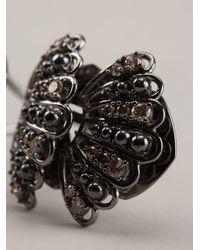 Nikos Koulis - Metallic Gold And Brown Diamond Pavé Ring - Lyst