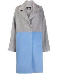 Karl Lagerfeld カラーブロック コート Gray
