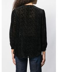 Blouse à motif animalier Liu Jo en coloris Black