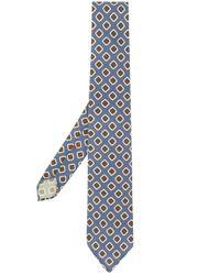 Corbata con motivo Dell'Oglio de hombre de color Blue