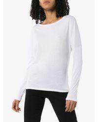 Camiseta Le Mid Rise Garcon FRAME de color White