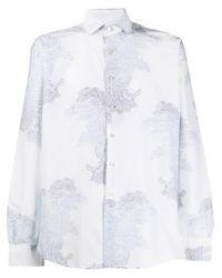 Camisa con estampado de cachemira Etro de hombre de color White