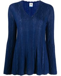 M Missoni ジグザグ セーター Blue
