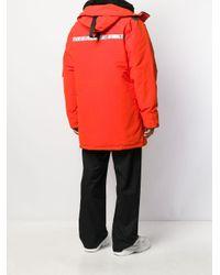 Abrigo acolchado con capucha de x Canada Goose Junya Watanabe de hombre de color Orange