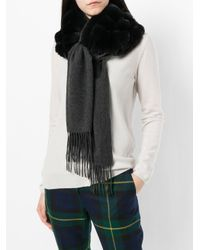 N.Peal Cashmere カシミア ストール Black