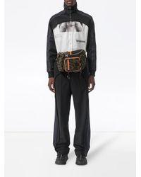 メンズ Burberry ストライプ テーラードパンツ Black