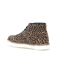 PS by Paul Smith - Brown Leopard Print Boots - Lyst