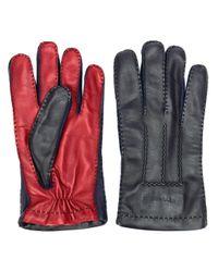 Two tone biker gloves Etro pour homme en coloris Black