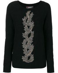 Maglione con ricamo di paillette di Jo No Fui in Black