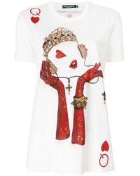 Dolce & Gabbana プリント Tシャツ White
