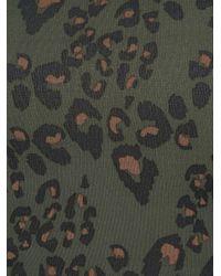 The Upside Green Bikinioberteil mit Leoparden-Print