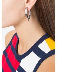 Kasun - Metallic Vampire Claw Earrings - Lyst
