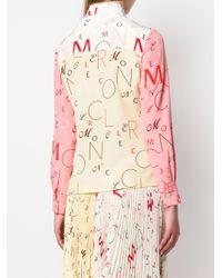 Chemise à logo Moncler en coloris Multicolor