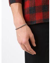 M. Cohen - Metallic 'mini Fish Bone' Bracelet for Men - Lyst