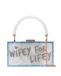 Sophia Webster Cleo Wifey For Lifey クラッチバッグ Blue