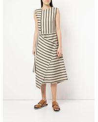 Astraet Brown Contrast Stripe Dress