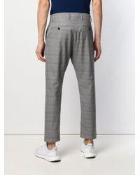 Pantalon chino à carreaux Closed pour homme en coloris Gray