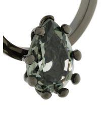 DSquared² - Metallic Orecchini Ad Anelli Con Pietre - Lyst