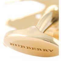 Burberry Manschettenknöpfe in Ritterform in Metallic für Herren