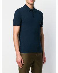 Roberto Collina Gestricktes Poloshirt in Blue für Herren