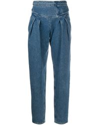 RED Valentino Blue High-waisted Denim Jeans