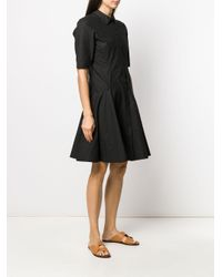 Платье-рубашка А-силуэта Proenza Schouler, цвет: Black