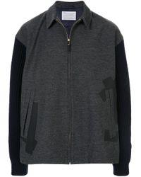 Giacca-camicia con maniche a maglia di Kolor in Black da Uomo