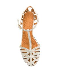 Chie Mihara Gray Mary Jane Cut Out Sandals