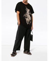 メンズ Yohji Yamamoto Naked Woman プリント Tシャツ Black